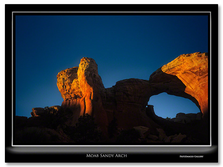 FritzImages | First Look Nikon SB 910 | image name = Moab Sandy Arch1