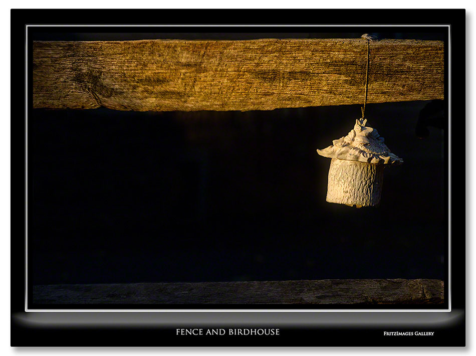 FritzImages | FritzImages October 2012 Gallery | image name = Fence and Birdhouse