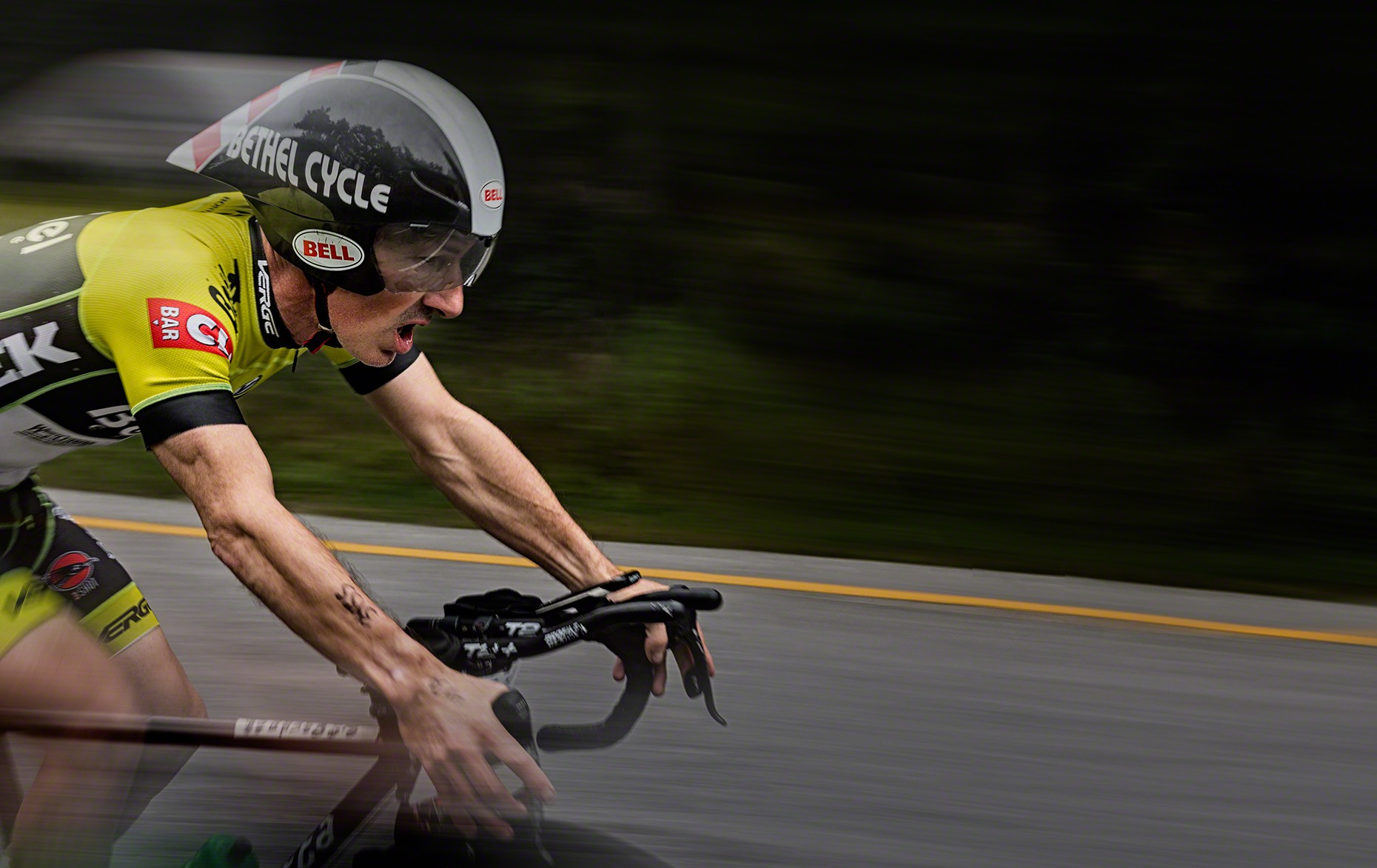 Image of Cyclists at Mt Greylock hill climb by photographer Ed Fritz